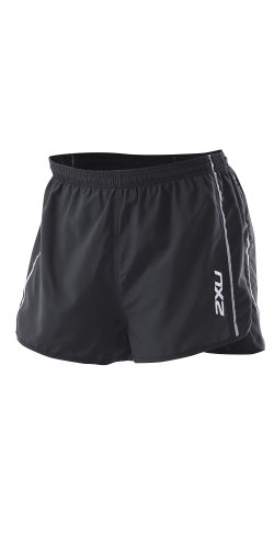 2XU 2XU Men's Training Run Short - Short Leg, Black, X-Large