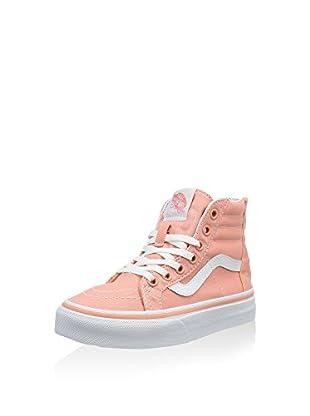 Vans Zapatillas abotinadas Sk8-Hi Zip (Rosa / Blanco)