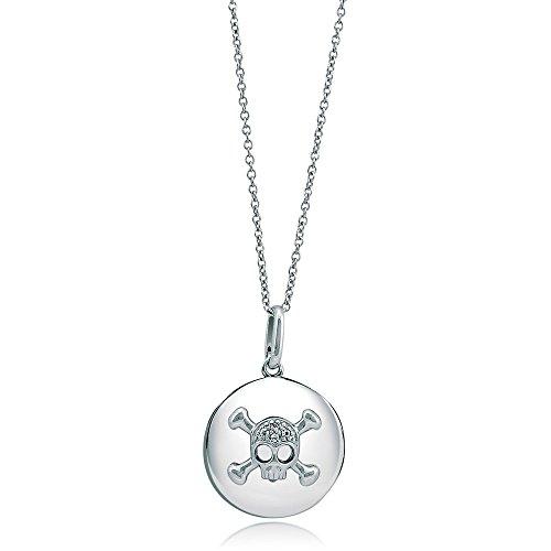 Berricle 925 Sterling Silver Cubic Zirconia Cz Medallion Women Fashion Pendant Necklace