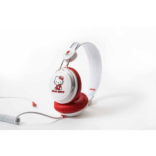 Hello Kitty ハロー キティー Headphone White and Redの写真02。おしゃれなヘッドホンをおすすめ-HEADMAN(ヘッドマン)-