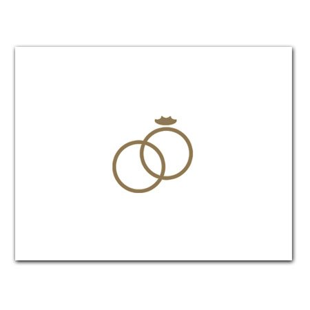 Gold Wedding Rings - Gift Enclosure Cards (set of 12)