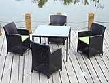 Palm Beach 5 Pc Dining Set in Java Coffee