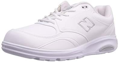 New Balance Men's MW812 Lace-up Walking Shoe,White,7 4E
