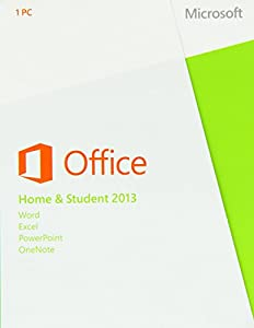 Microsoft Office Home and Student 2013, License Card, 1 User (PC)