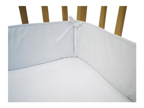 Imagen de American Baby empresa 100% algodón percal Portátil / Mini Cuna parachoques, Blanco