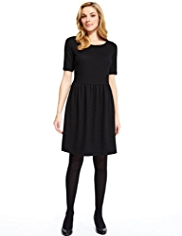 M&S Collection Ribbed Skater Dress