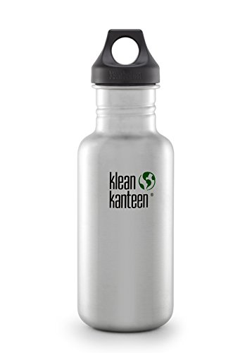 Klean Kanteen Stainless Steel Bottle with 3.0 Sport Cap (Brushed Stainless, 27-Ounce)
