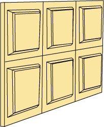 Dollhouse Miniature Wainscott Panel