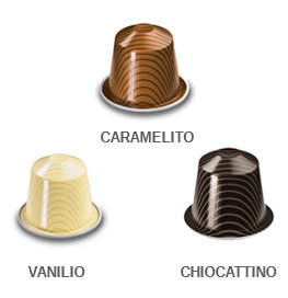 Nespresso OriginalLine: Vanilio,Ciocattino, Caramelito, 30 Count