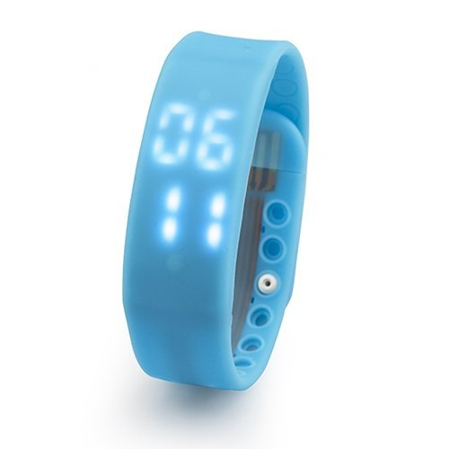 Baolifeng Smart Pedometer Bracelet with Sleep Monitoring, Temperature Monitoring, Calorie Monitoring, Digital Time Display (Blue)