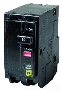Square D Circuit Breaker, 60 Amp, 2-Pole, Qo260