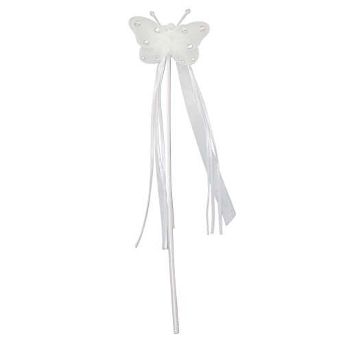 Jeweled Butterfly Fairy Princess Wand Select Color: white