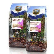 Java Planet - Costa Rican USDA Organic Coffee Beans, Dark Roast, Arabica Gourmet Coffee Grade A, packaged in two 1 LB bags (Gmo Free Coffee Beans compare prices)