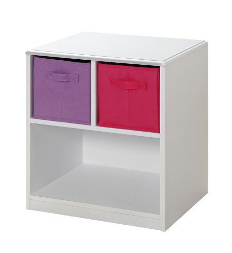 Cheap Kids Nightstand with Baskets (White / Pink) (21.5″H x 19″W x 15.75″D) (B005ZJCKJ0)