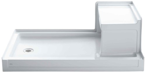 Sale!! Kohler K-1979-0 Tresham 60-Inch by 36-Inch Shower Receptor with Integral Seat and Left-Hand D...