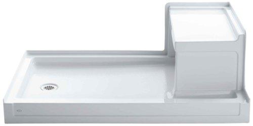 Sale!! Kohler K-1979-0 Tresham 60-Inch by 36-Inch Shower Receptor with Integral Seat and Left-Hand D...