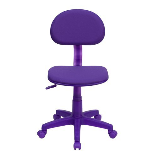 Kings Brand Purple Fabric Children'S Kids Student Desk Task Chair