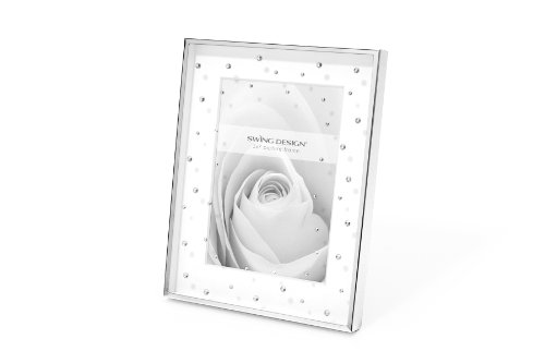 Swing Design Celia Picture Frame, 5 by 7-Inch, Silver Plate