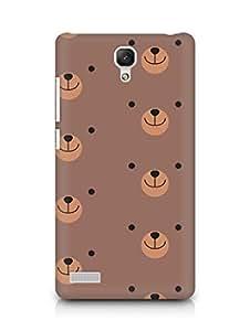 Amez designer printed 3d premium high quality back case cover for Xiaomi Redmi Note 4G (cute brown bears )