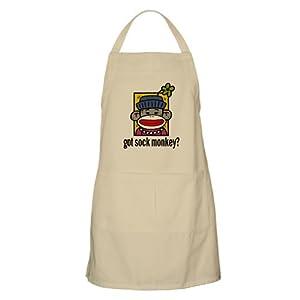 CafePress Sock Monkey BBQ Apron Apron