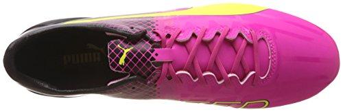 Puma evoSPEED 1.5 Tricks FG, Herren Fußballschuhe, Pink (pink glo-safety yellow-black 01), 46 EU (11 Herren UK) -