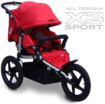 All Terrain X3 Sport Stroller Color: Red by Tike Tech
