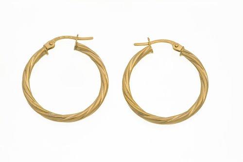 9ct Yellow Gold UER 041Y Ladies' Hoop Earrings