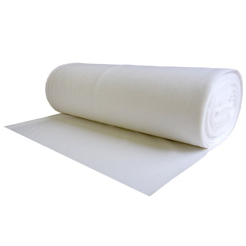 100% Wool Felt White 1.2 MM Thick X 63 Inches Wide X 1 Yard Long