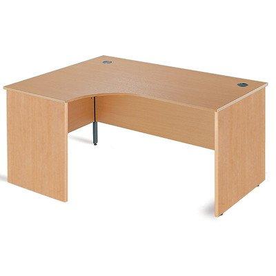 Maestro Ergonomic Desk Orientation: Left, Finish: Oak, Size: 177.8cm