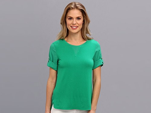 Calvin Klein Women'S S/S Tee W/ Cdc Back Grass T-Shirt Sm (Us 4-6)