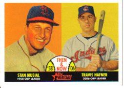 2007 Topps Heritage Then and Now #TN8 Stan Musial/Travis Hafner