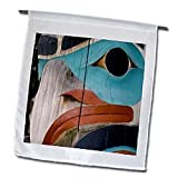 31OfWnRl9KL. SL160  Native American, Totem pole, Anchorage, Alaska   US02 BBA0029   Bill Bachmann   12 X 18 Inch Garden Flag