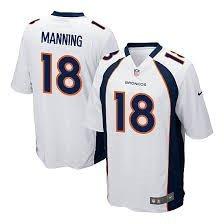 Peyton Manning #18 Denver Broncos White Youth Jersey Medium by Player