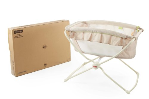 Fisher price deluxe portable bassinet rock n play crib for Portable bassinet