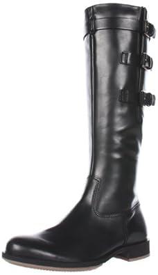 ECCO Women's Saunter GTX Tall 3 Buckle Flat Boot,Black,36 EU/5-5.5 M US