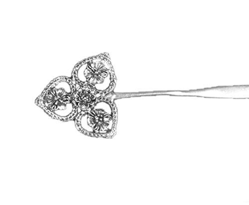 100 fait main accessoire cheveux vintage bijoux originaux barrette argent 109 bijouterie. Black Bedroom Furniture Sets. Home Design Ideas
