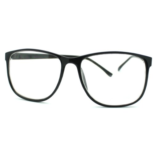 Big Glasses With Thin Frames : MJ Boutique Black Large Nerdy Thin Plastic Frame Clear ...