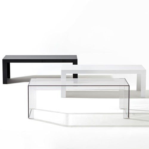 Kartell Invisible Coffee Table, Rectangle