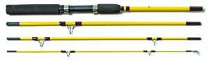 Eagle Claw Pack-IT Medium Spinning Rod, 4 Piece (Yellow, 6-Feet 6-Inch)