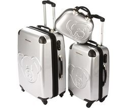 Luggage sets -AJA - Set of Two 2-wheel Suitcases + 35 cm beauty case - silver (15 211/3) 85.3333333333333 ( AJA by Lulu Castagnette is a line ofstylish and contemporary luggage. This set contains a 49 cmsuitcase, a 59 cm suitcase and a beauty case. Each A