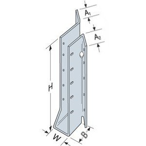 "Simpson Strong Tie SUR2.1/11 2-1/8"" x 11-3/16"" Face Mount I-Joist & SCL Hanger Skewed 45° Right"