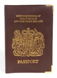 Real Leather UK Travel Passport Cover Holder Protector