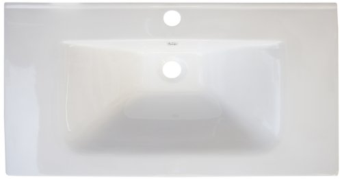 American Imaginations 384 32-Inch by 18-Inch White Ceramic Top with Single Hole