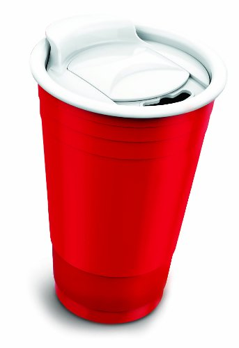 Asobu Fun Party Cup, 16-Ounce, Red - 1
