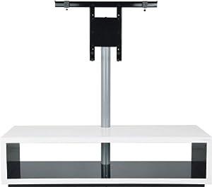 Norstone saeby meuble tv l gant et contemporain avec support d 39 cran int gr orientable 30 - Meuble tv avec support orientable ...