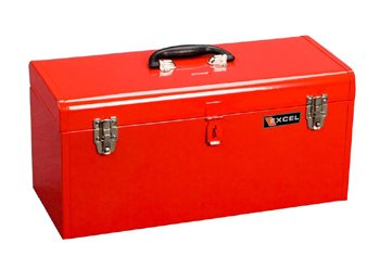 20 Portable Metal Tool Box Color: Red