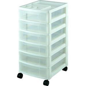 Six Drawer Office Storage Chest - White