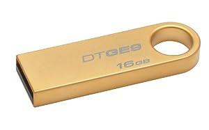 Kingston Technology 16GB DataTraveler  USB 2 GE9 DTGE9/16GB with Gold Metal Casing