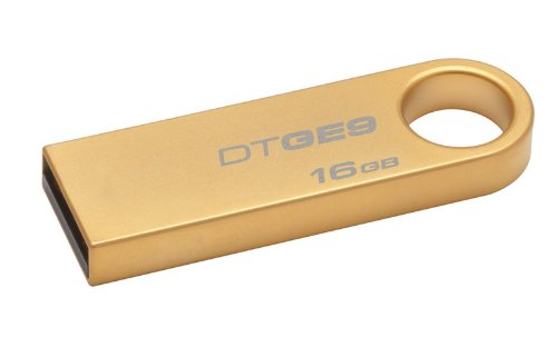 Kingston Technology 16GB DataTraveler  USB 2 GE9 DTGE9/16GB with Gold Metal Casing