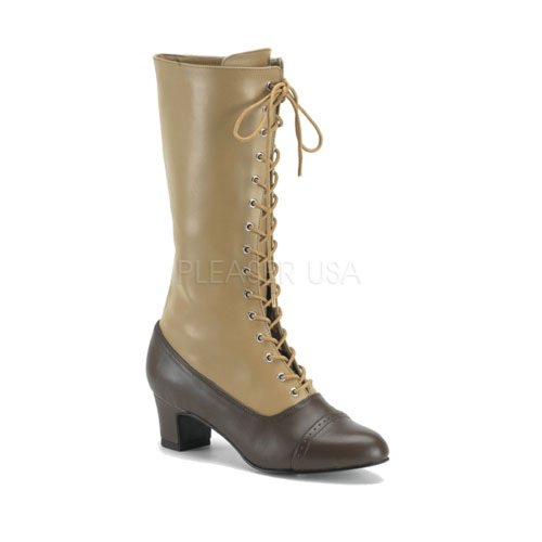 Victorian Tall Two Tone Brown Tan 112